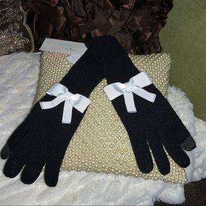 Kate Spade Black/white BOW tech friendly Gloves